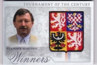 Hokejová karta Vladimír Martinec  Tournament Of The Century Logo Patch /12