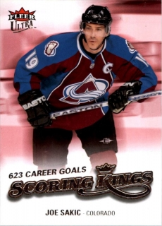 Hokejová karta Joe Sakic Fleer Ultra  2008-09 Scoring Kings č. SK5
