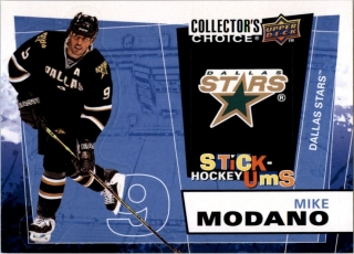 Hokejová karta Mike Modano UD Collector´s Choice 2008-09 Stick Ums č. UMS19