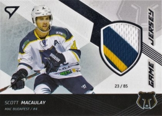 Scott Macaulay Tipsport Liga 2018-19 Série 1 Game Jersey J12