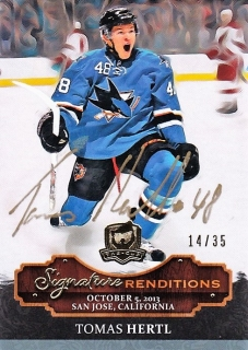 Tomáš Hertl UD The Cup 2013-14 Signature Renditions /35