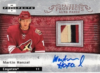 Martin Hanzal Fleer 2007-08 Hot Prospects Prized Prospects Auto Patch /399