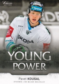 Hokejová karta Pavel Kousal OFS 17/18 S.II. Young Power
