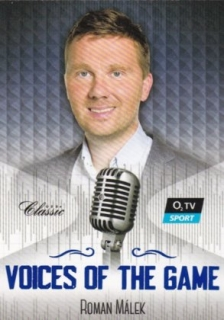 Hokejová karta Roman Málek OFS 2018-19 Série 2 Voices Of The Game