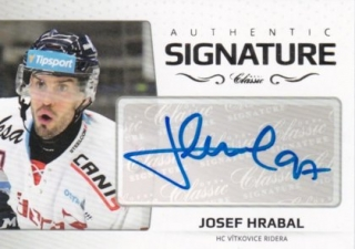 Hokejová karta Josef Hrabal OFS 2018-19 Série 2 Authentic Signature Platinum