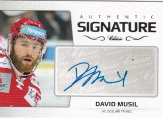 Hokejová karta David Musil OFS 2018-19 Série 2 Authentic Signature Platinum