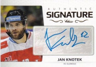 Hokejová karta Jan Knotek OFS 2018-19 Série 2 Authentic Signature Gold