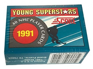 Box hokejových karet 1991 Score NHL Young Superstars Trading Hockey Card Factory