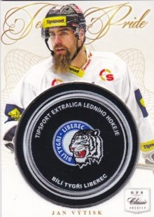 hokejová karta Jan Výtisk OFS 14/15 Game Puck Replica