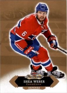 Hokejová karta Shea Weber Fleer Showcase 16/17 Base č. 14