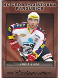 Hokejová karta Jakub Kindl OFS Exclusive Base
