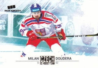 Hokejová karta Milan Doudera Czech Ice Hocky Team 2018 Gold Parallel