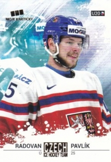Hokejová karta Radovan Pavlík Czech Ice Hocky Team 2018 Gold Parallel
