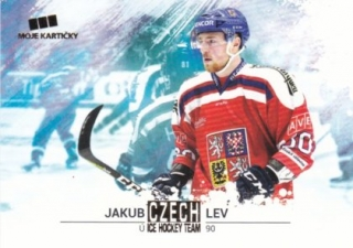 Hokejová karta Jakub Lev Czech Ice Hocky Team 2018 Gold Parallel