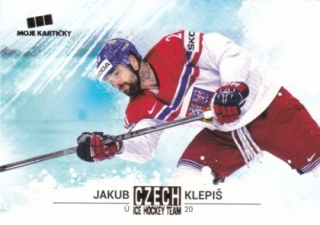 Hokejová karta Jakub Klepiš Czech Ice Hocky Team 2018 Gold Parallel