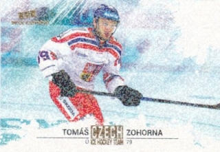 Hokejová karta Tomáš Zohorna Czech Ice Hocky Team 2018 Gold Rainbow Parallel
