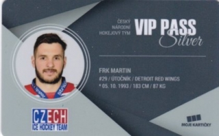 Hokejová karta Martin Frk Czech Ice Hockey Team 2018 VIP PASS Silver