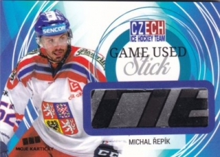 Hokejová karta Michal Řepík Czech Ice Hockey Team 2018 Game Used Stick