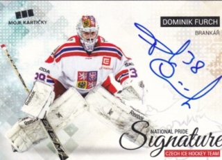 Hokejová karta Dominik Furch CIHT 2018 National Pride Signatures Silver