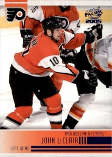 hokejová karta John LeClair Pacific 2004-05 Blue limit 089/250 č. 195