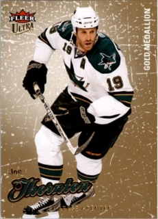 hokejová karta Joe Thornton Ultra Fleer 2008-09 Gold Medallion č. 188