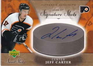 Hokejová karta Jeff Carter Sweet Shot 2006-07 Signature Shots č. SS-JC