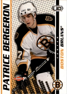 Hokejová karta Patrice Bergeron Pacific Head Up 2004-05 Rookie limit /899 č. 102