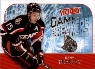 Hokejová karta Dany Heatley UD Victory 2009-10 Game Breakers č. GB27