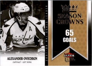 Hokejová karta Alex Ovechkin Fleer Ultra 2008-09 Season Crowns č.SC1