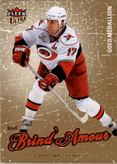 Hokejová karta Rod Brind´Amour Fleury Fleer Ultra 08-09 Gold Medallion č. 22