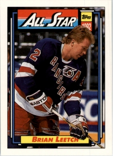 Hokejová karta Brian Leetch Topps 1992-93 All Star č. 261