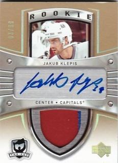 Hokejová karta Jakub Klepiš UD 2005-06 The CUP Auto Rookie Patch Gold /38