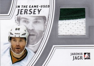 Hokejová karta Jaromír Jágr 2013-14 In The Game-Used GUJ-07 Jersey /50 Silver