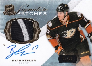 Hokejová karta Ryan Kesler The Cup 2014-15 Signature Patches 01/99 č. SP-RK
