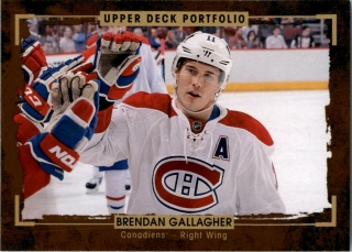 hokejová karta Brendan Gallagher Upper Deck Portfolio 2015-16 č.68