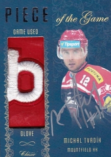 Hokejová karta Michal Tvrdík OFS 15/16 Piece Of the Game Sign.